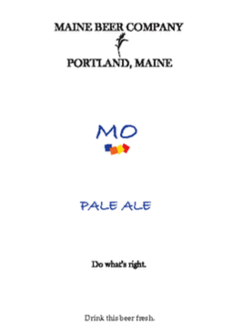Maine Beer Co. 'mo' Pale Ale
